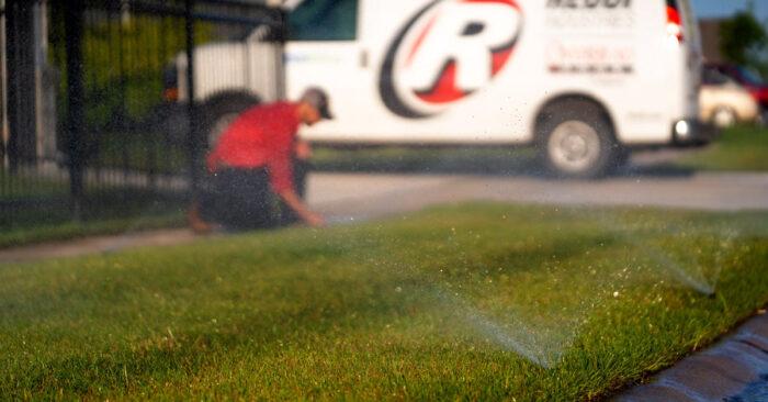 Sprinkler System Watering